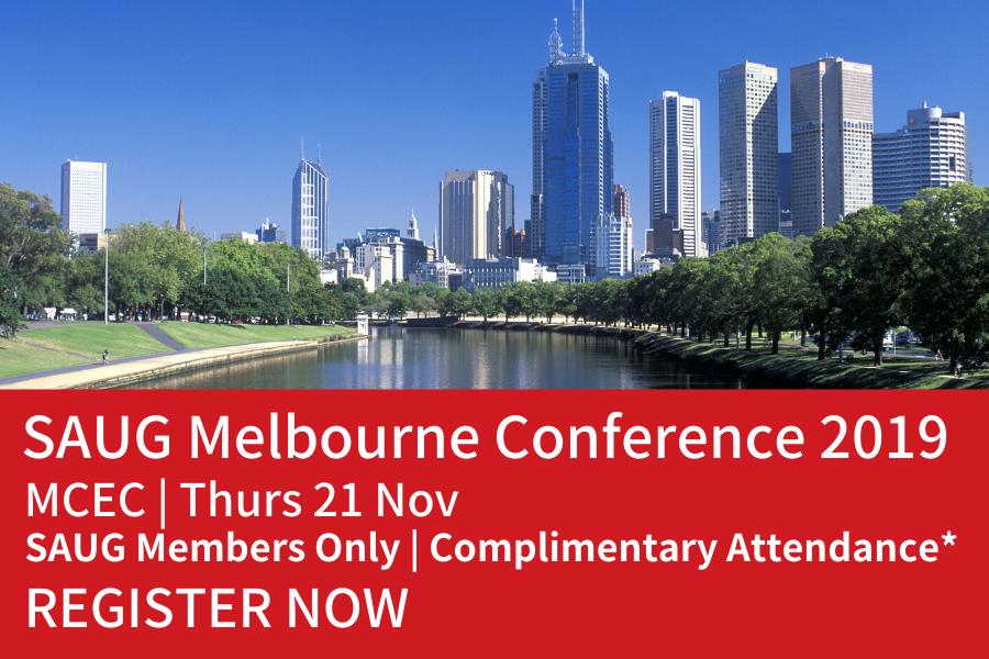 SAUG Melbourne Conference 2019